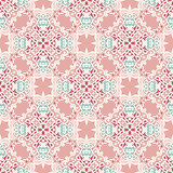Cute pink Seamless abstract tiled vector pattern for fabric
