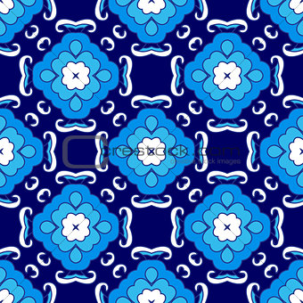 Abstract seamless ornamental vector pattern for fabric