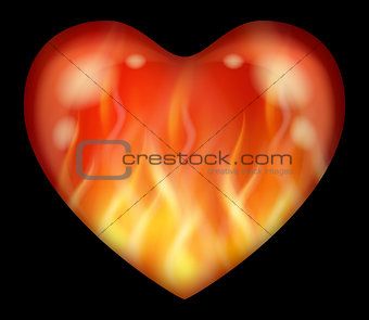 Flaming Valentine Heart