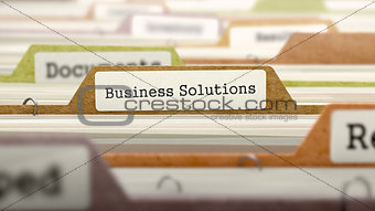Business Solutions on Folder in Catalog.