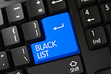 Black List CloseUp of Keyboard.