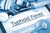 Typhoid Fever Diagnosis. Medical Concept. 3D.