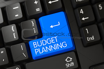 Blue Budget Planning Button on Keyboard.