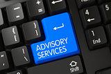 Keyboard with Blue Keypad - Advisory Services.