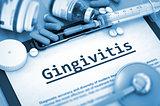 Gingivitis Diagnosis. Medical Concept.