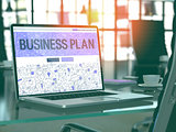 Business Plan Concept on Laptop Screen.