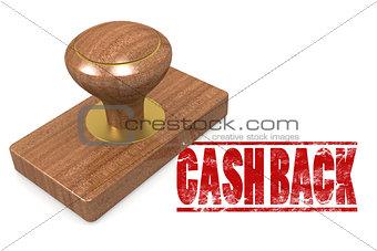 Cash back wooded seal stamp