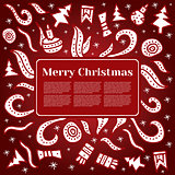 Merry Christmas card with Holiday elements.