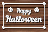 Happy Halloween Background. Vector illustration.