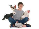 teen and chicken