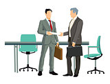 business concept in agreements, corporation, contracts, partnership