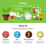 Biology Science Flat Web Design Template
