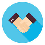 Business Handshake Circle Icon