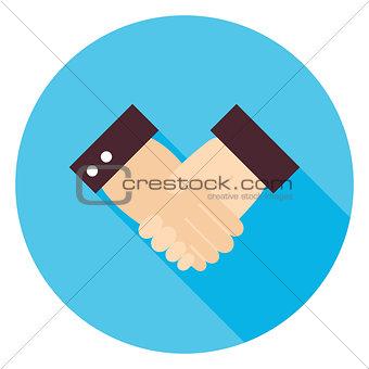 Business Handshake Circle Icon