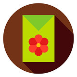 Flower Garden Seeds Package Circle Icon
