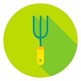 Garden Fork Tool Circle Icon