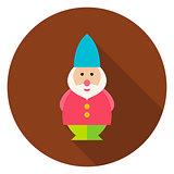 Garden Gnome Circle Icon