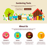 Gardening Tools Flat Web Design Template