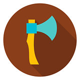 Hatchet Tool Circle Icon