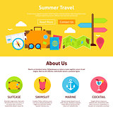 Summer Travel Flat Web Design Template