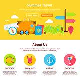 Summer Travel Flat Web Design Template