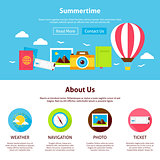 Summertime Flat Web Design Template