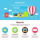 Summertime Flat Web Design Template