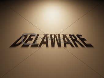 3D Rendering of a Shadow Text that reads Delaware