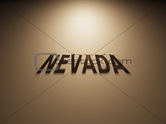 3D Rendering of a Shadow Text that reads Nevada