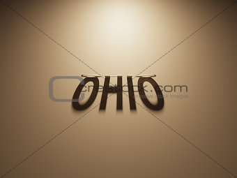 3D Rendering of a Shadow Text that reads Ohio