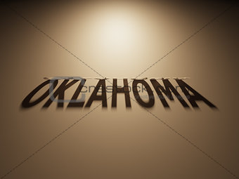 3D Rendering of a Shadow Text that reads Oklahoma