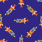 pattern with fishes