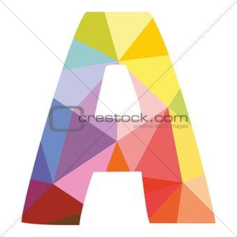 A vector alphabet letter