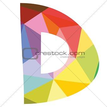 D vector alphabet letter