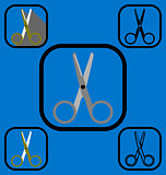 Scissor icons set