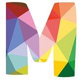 M vector alphabet letter