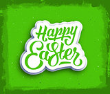 Happy Easter hand lettering text.