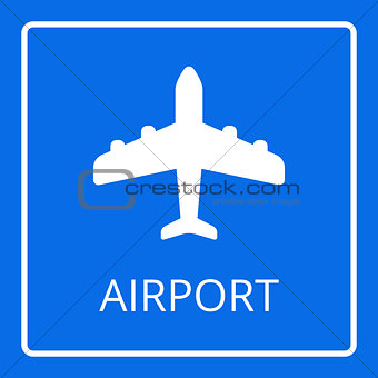 Airport sign vector. Airplane icon