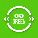 Go green typographic poster for Earth Day