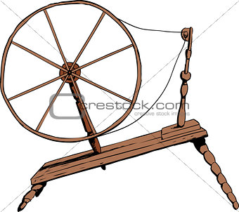 Old Fashioned Spinning Wheel