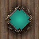 Decorative frame on wood