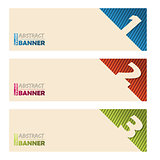 Cool banners with abstract striped background