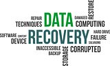 word cloud - data recovery