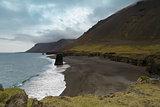 Icelandic shoreline panorama