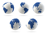 Earth globes set