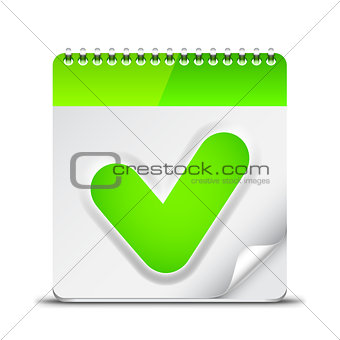 Calendar Icon with Check Mark Symbol