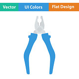 Flat design icon of pliers