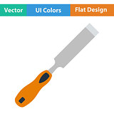 Flat design icon of chisel