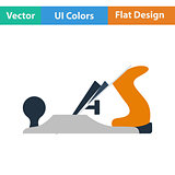 Flat design icon of jack-plane