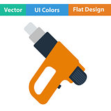 Flat design icon of electric industrial dryer